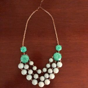 Turquoise and Seafoam bauble necklace